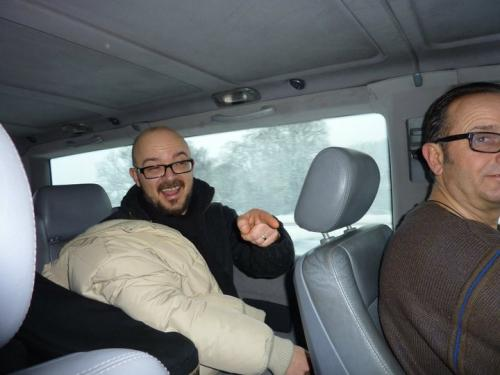 In the van with Nico Menci